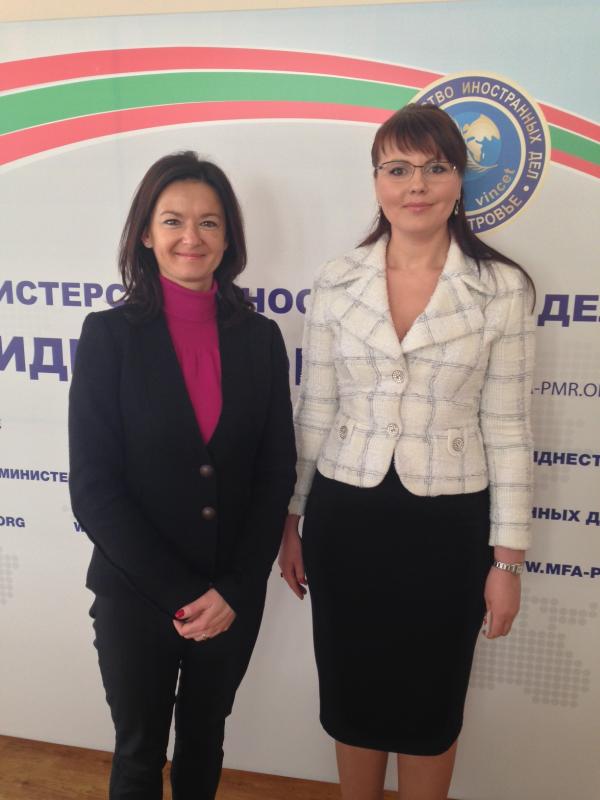 Srečanje z ministrico za zunanje zadeve  Pridnjesterja Nino Shtanski